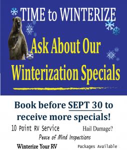 Winterize RV poster 8x11